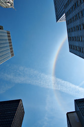 A sun halo over NYC