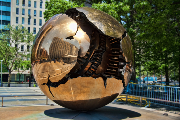 The globe at the UN HQ NY