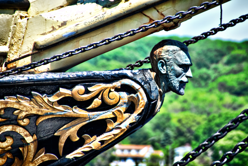 The figurehead on a old boat