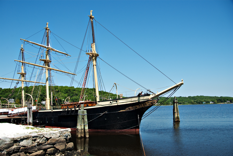 One of the boats at Mystic Seaport