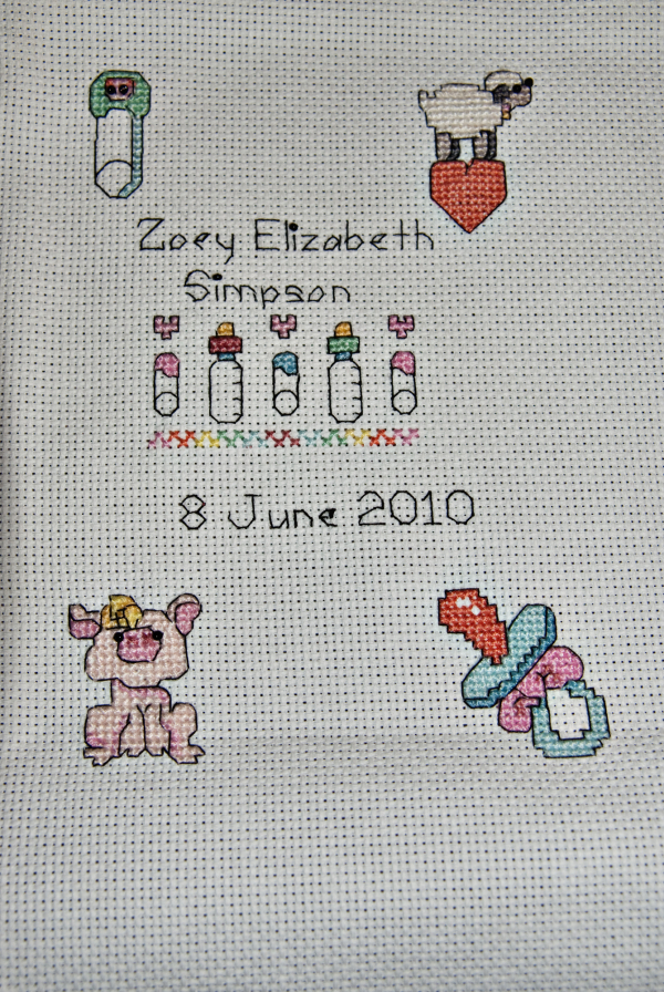 A cross Stitch for my Grand daughter