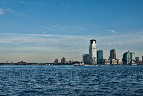 Looking acroos the Hudson River to Jersey City fro