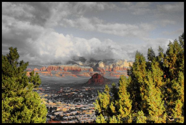 The Sun is Rising in Sedona  (HDR)