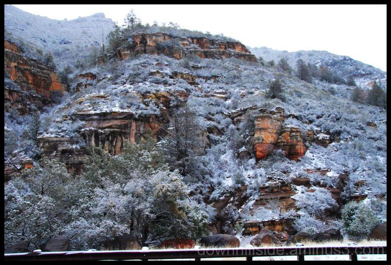 Snow in Oak Creek Canyon