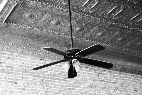 Tin Ceiling - Brick Wall