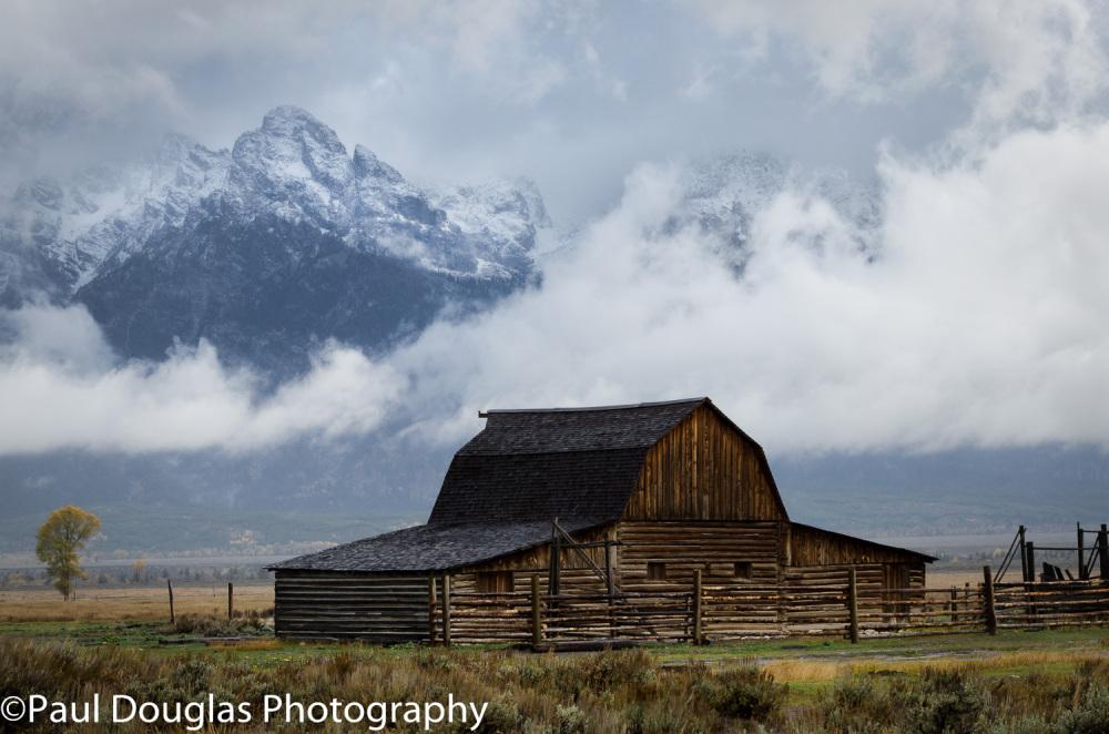 Mormon Row Barn with Fog