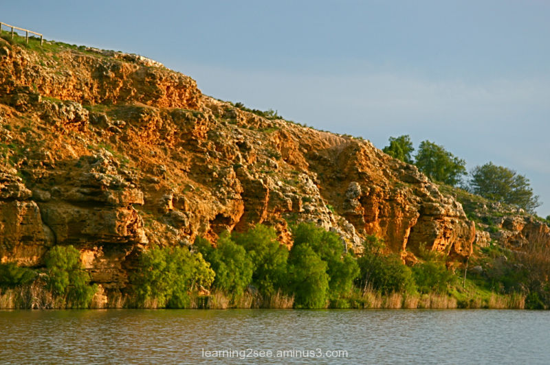 River Murray rockface