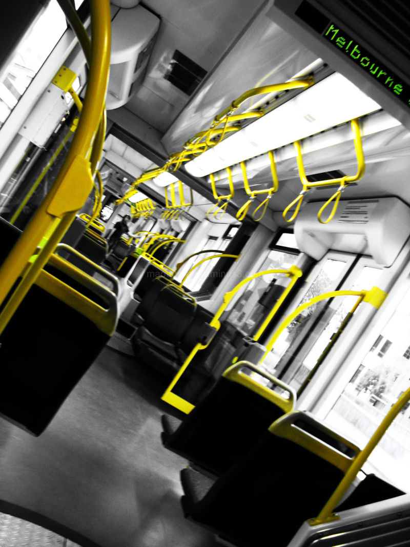yellow, tram, melbourne, maouren
