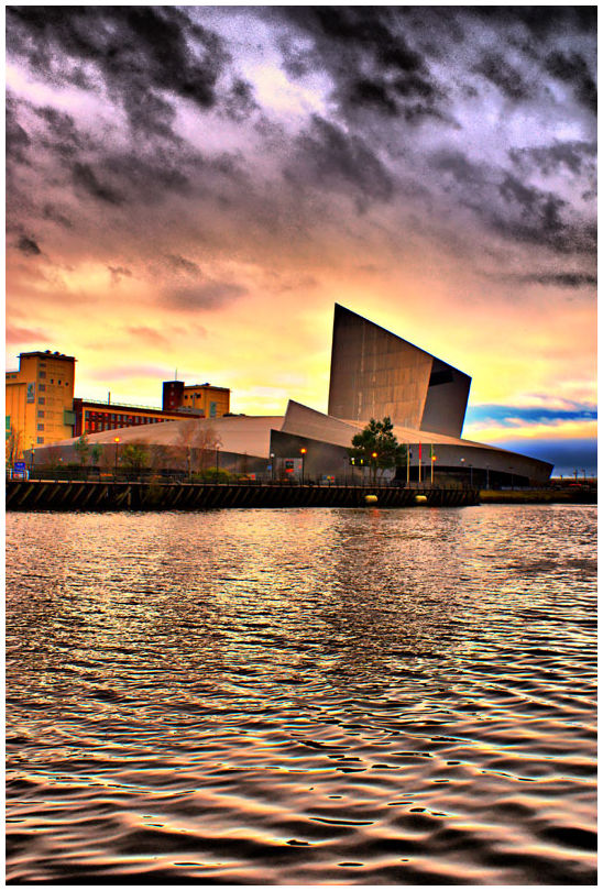 War Museum Manchester from accross Ship Canal