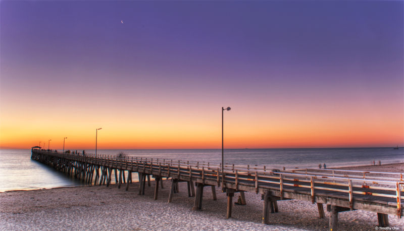 Sunset at Grange Jetty