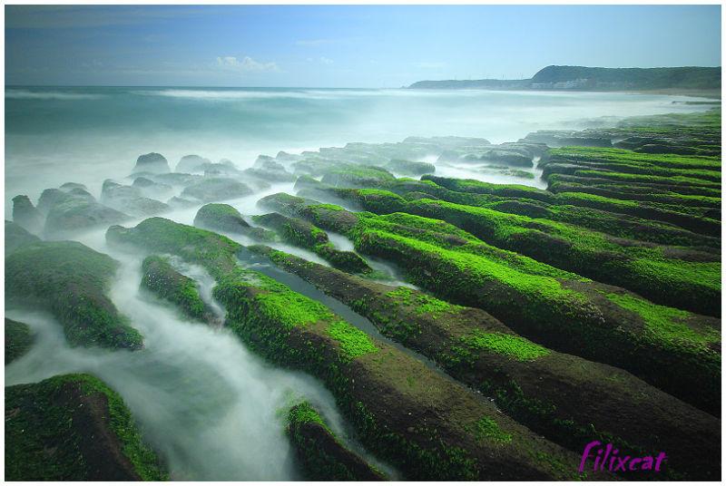 Green sea beach 2