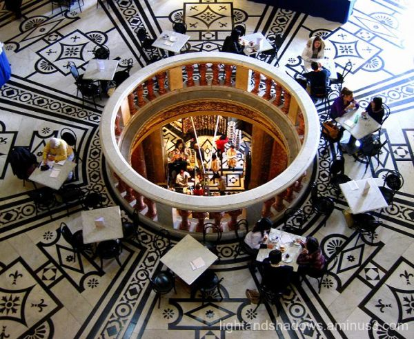 cafe at the art history museum of vienna