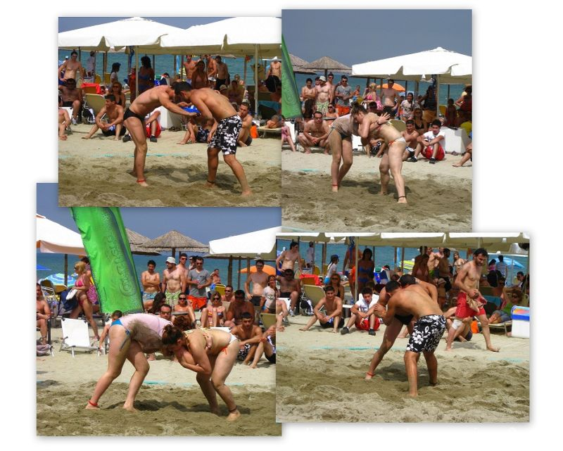 sand fight tournament at Katerini greece