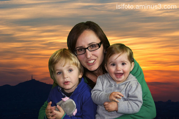 Sandra, Gerard y Giselle