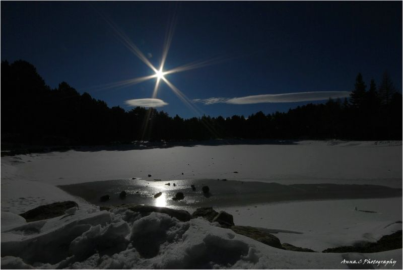 Star light on the frozen lake