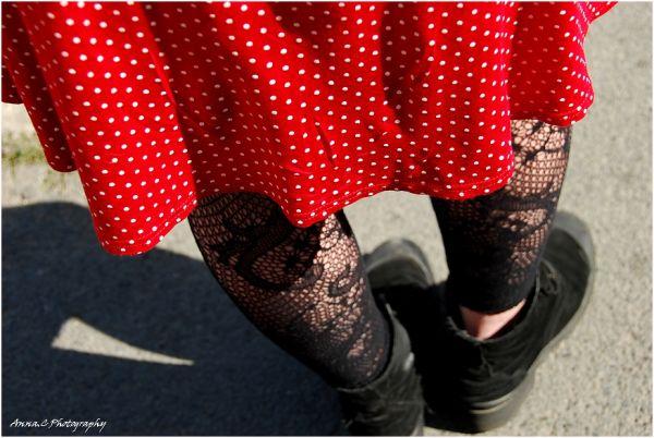 Dancing red skirt