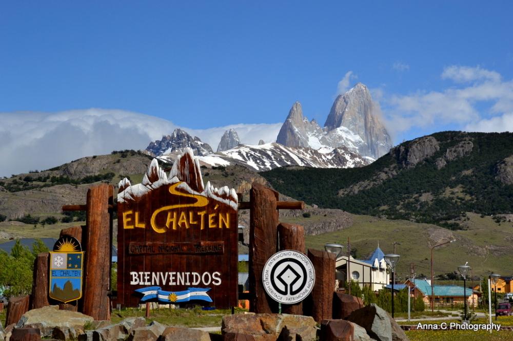 Bienvenidos, Welcome, Bienvenue à El Chalten