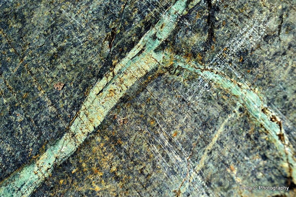 Les veines de la roche