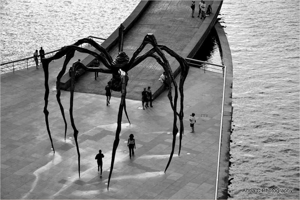 Guggenheim Bilbao # 13 - Jogging under Mummy