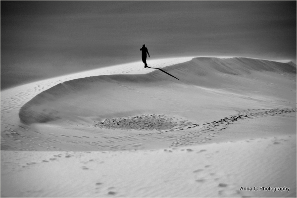 Vent de sable sur la dune