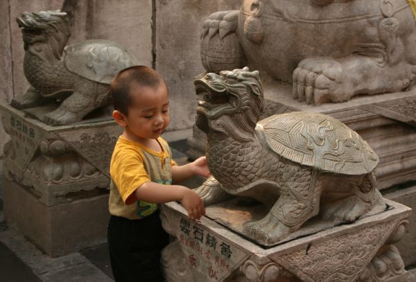 Beijing Lama Temple boy, China, travel