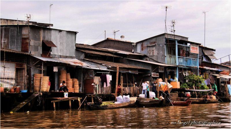 La vie sur les rives du Mékong