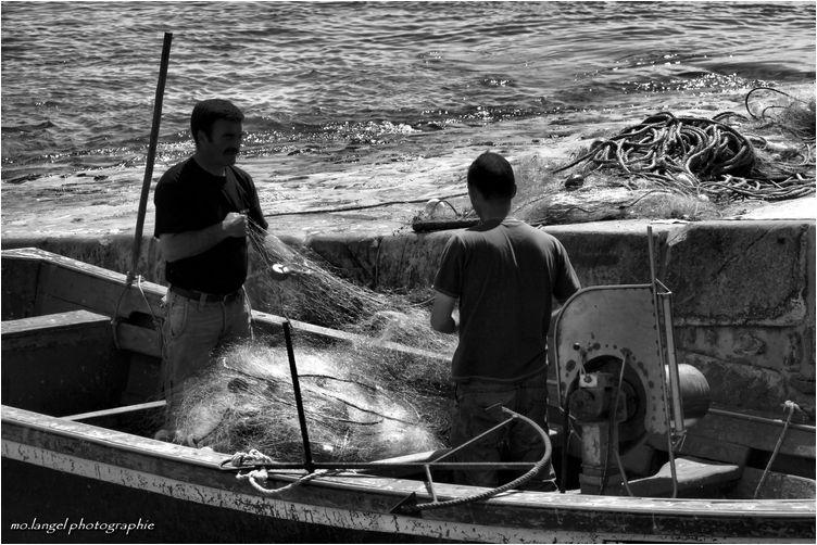 Le filet de pêche