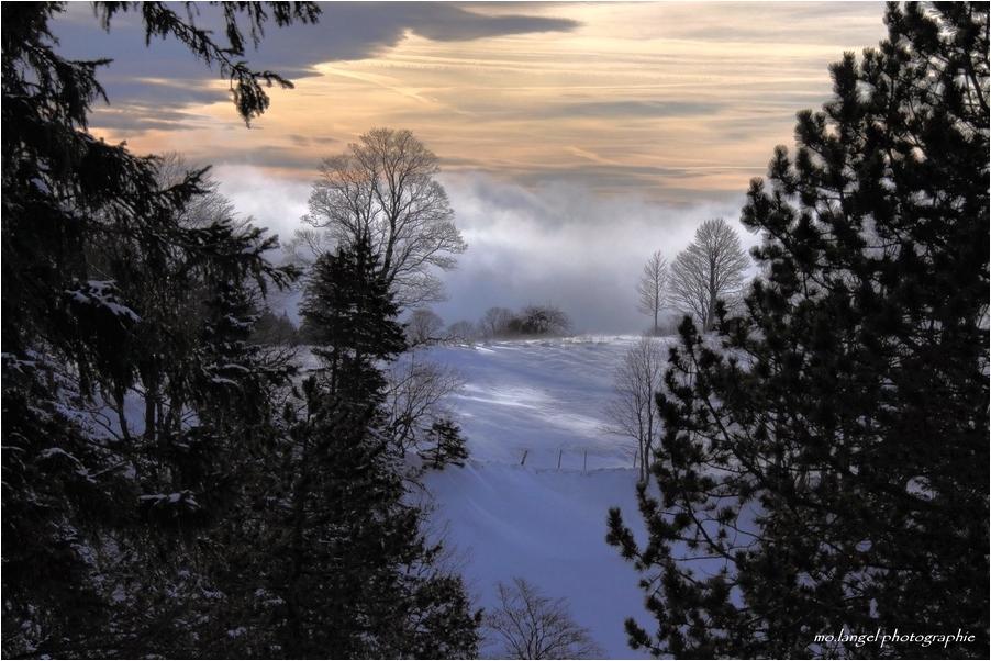Quand la brume remonte de la vallée