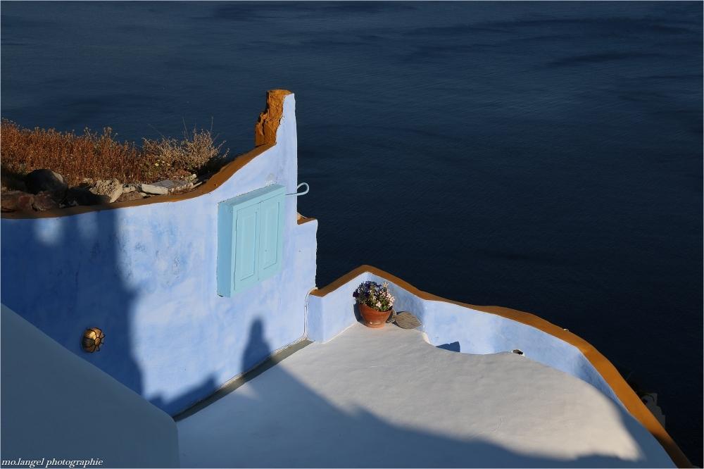 La terrasse bleue