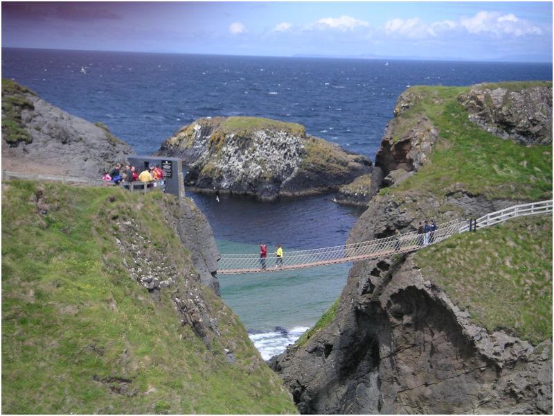 Carrick A Rede Rope Bridge Irlande Du Nord Landscape