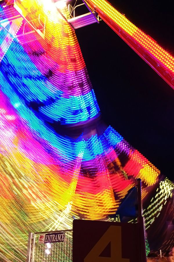 midway ride on a late summer night
