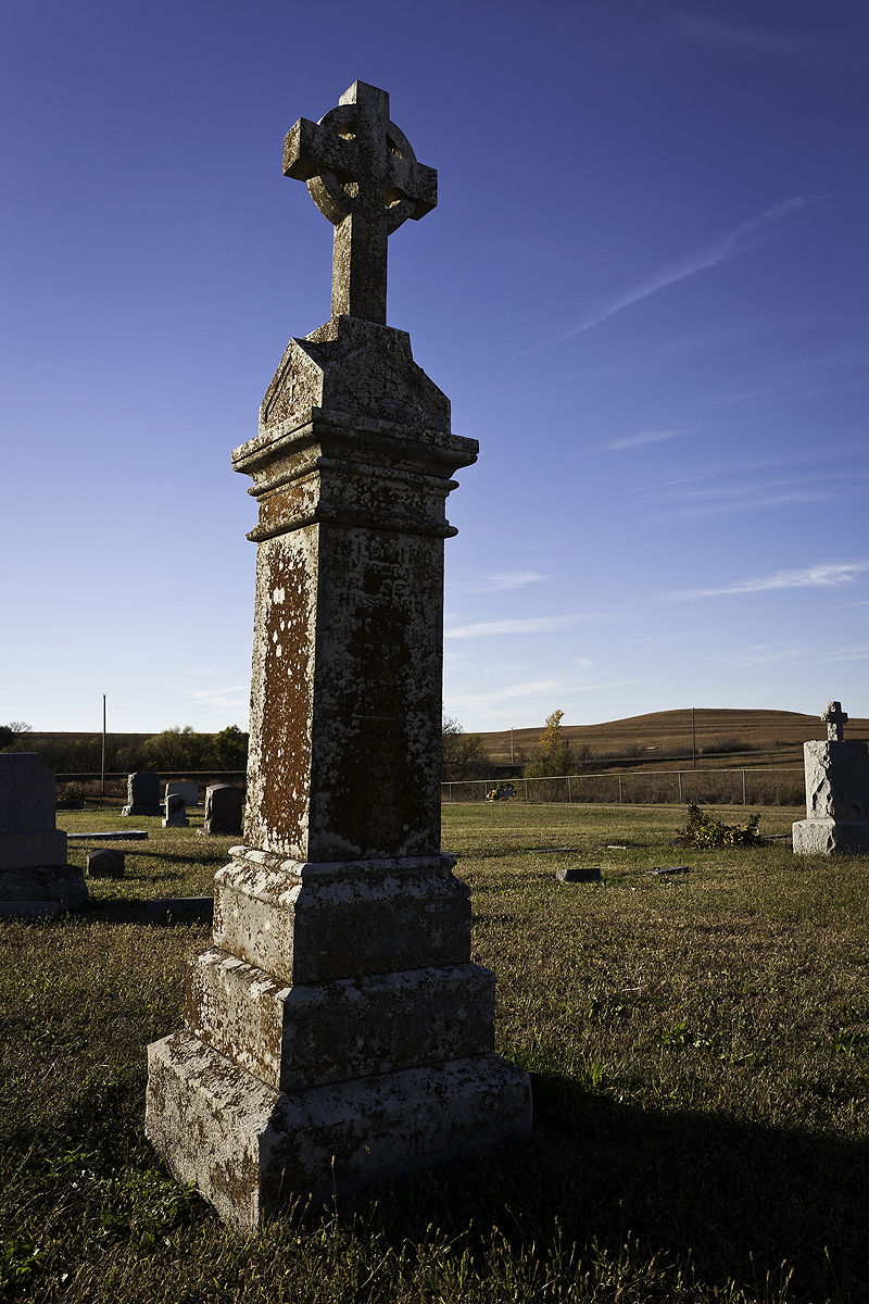 grave marker in chase county kansas