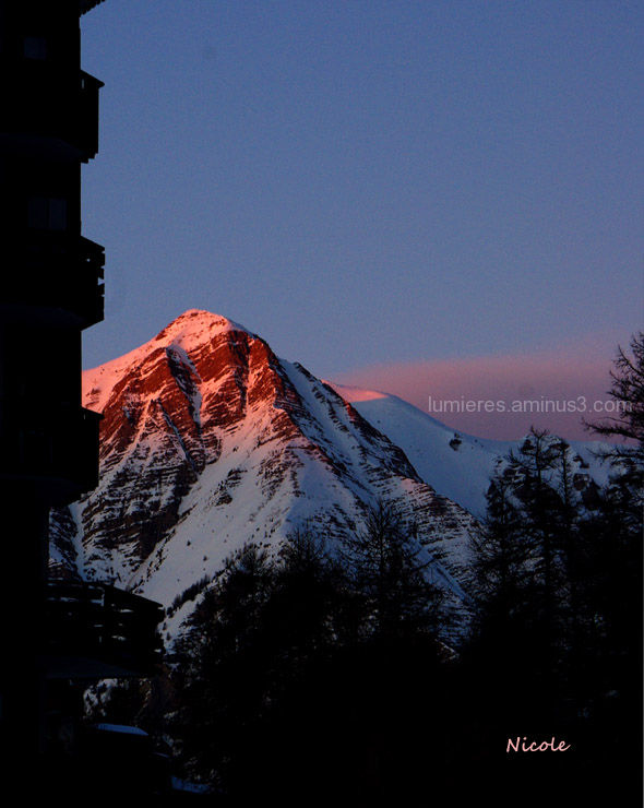 Mountains twilight