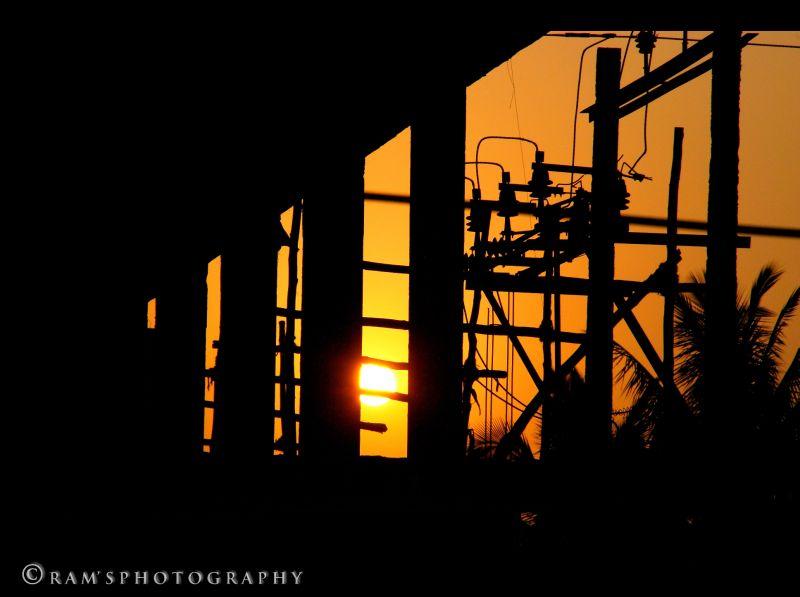 Sunset @ a construction site...