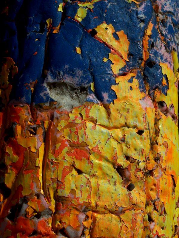 old peeled paint