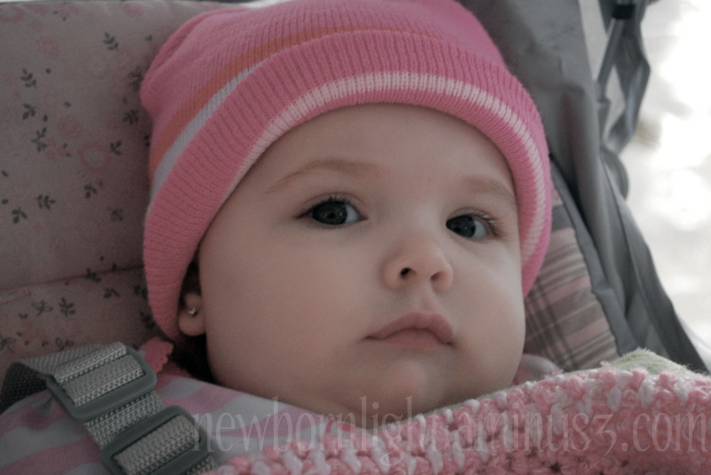 Baby in the winter