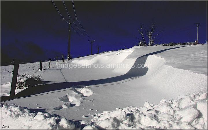 pas dans la neige et solitude