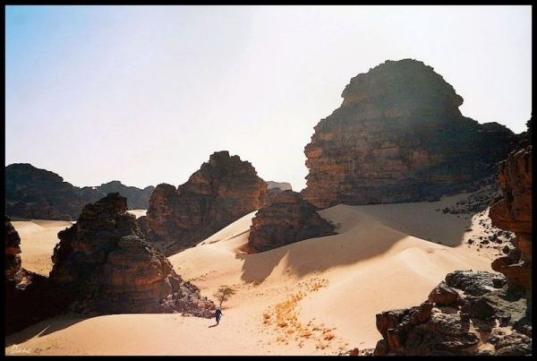 descente vers les dunes