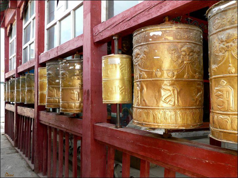 moulins à prière à Ulan-Bator