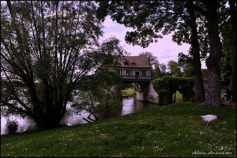 Atmosphère des bords de Seine .. Vernon