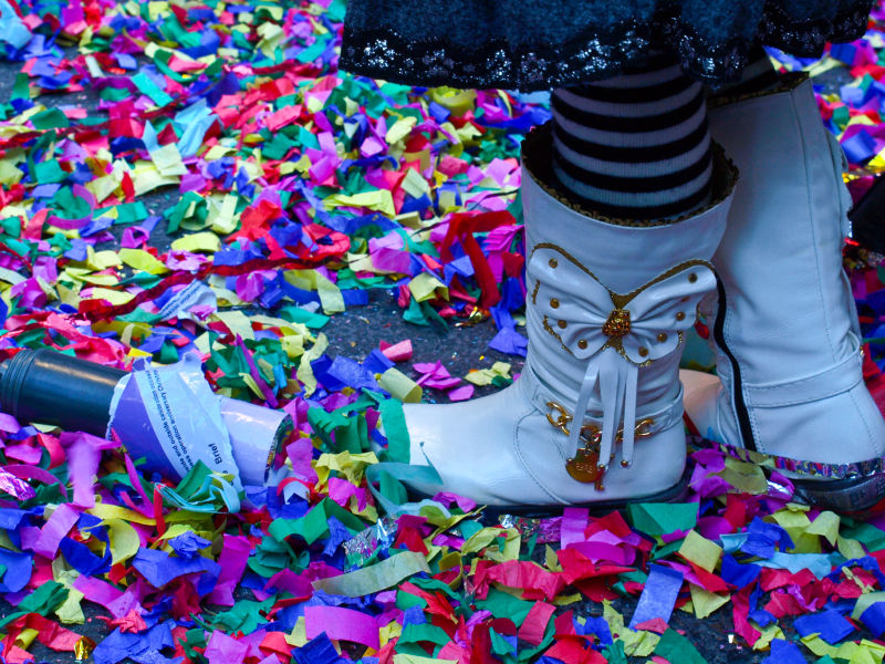 The Aftermath: Confetti on Mott Street