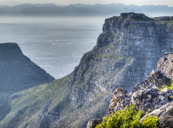 South Africa, Cape Town, Table Mountain, HDR