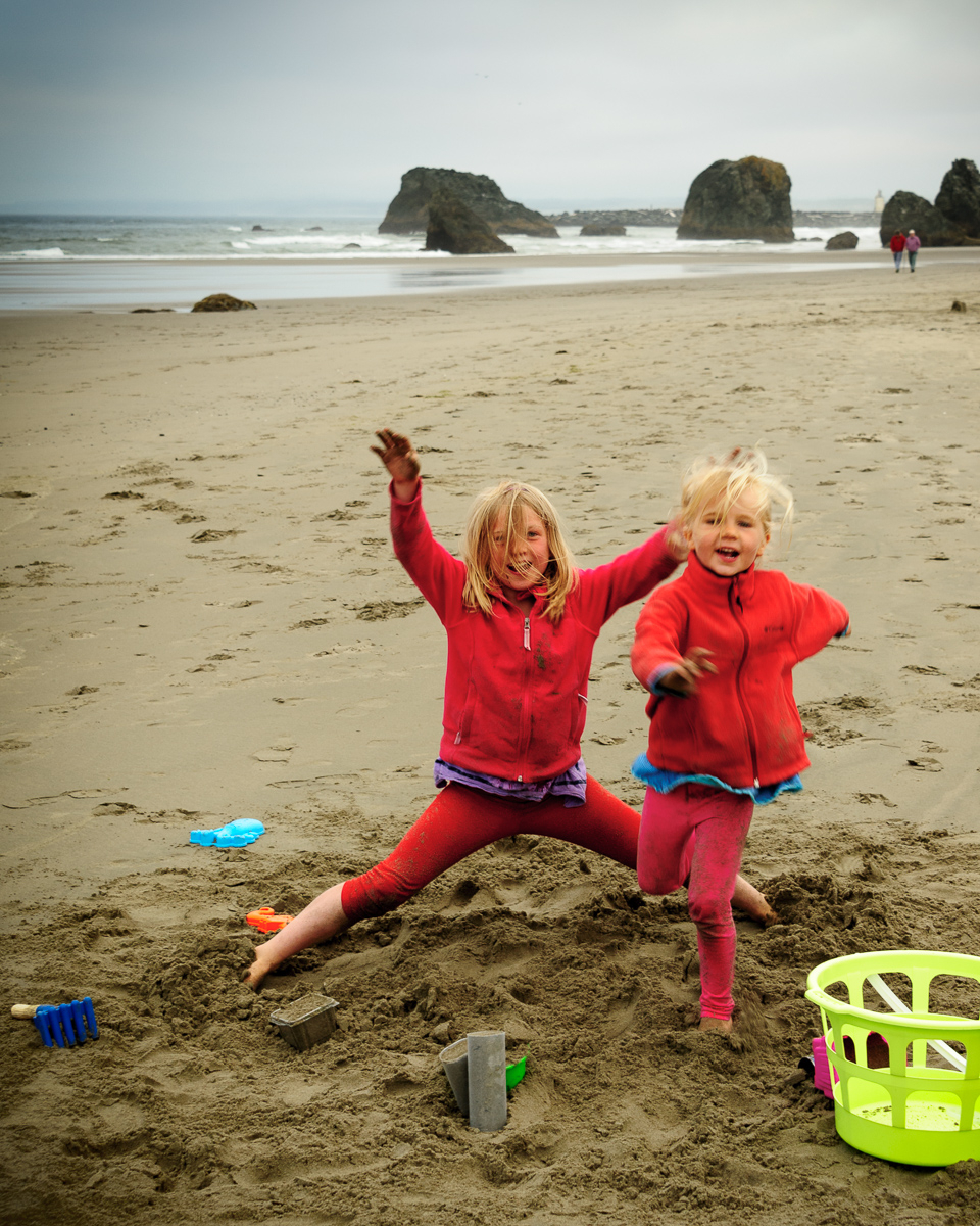 Back to the Girls at Bandon Beach