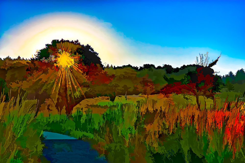 """Morning Walk"" (painterly)"