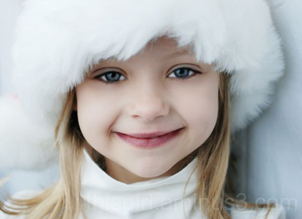 girl in santa hat