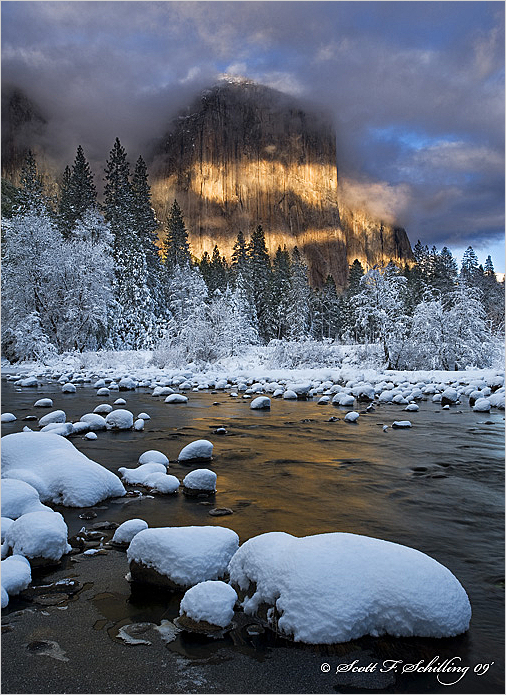 El Capitan and the Merced River