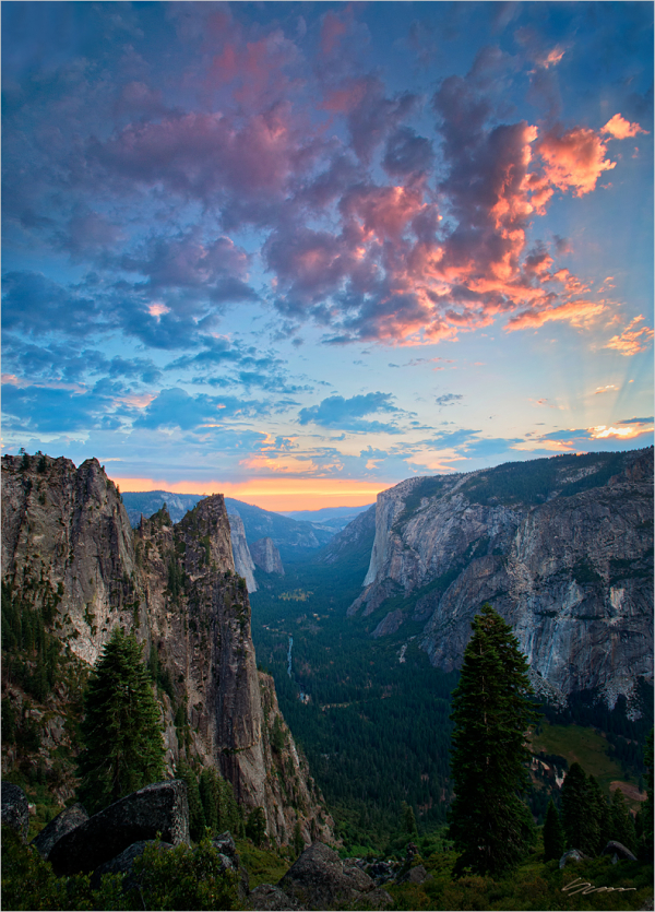 Summer Sunset - Yosemite National Park