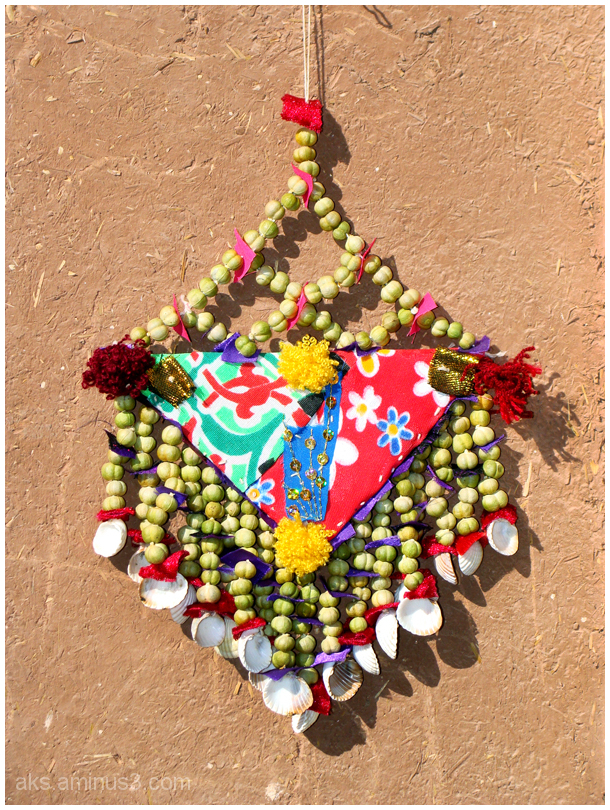 Wall hanging from Peganum harmala