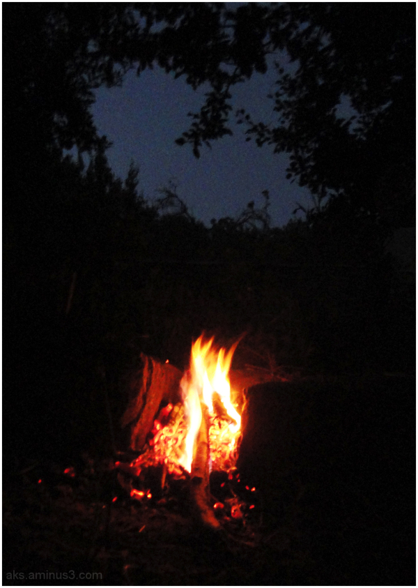 Night at beside the fire