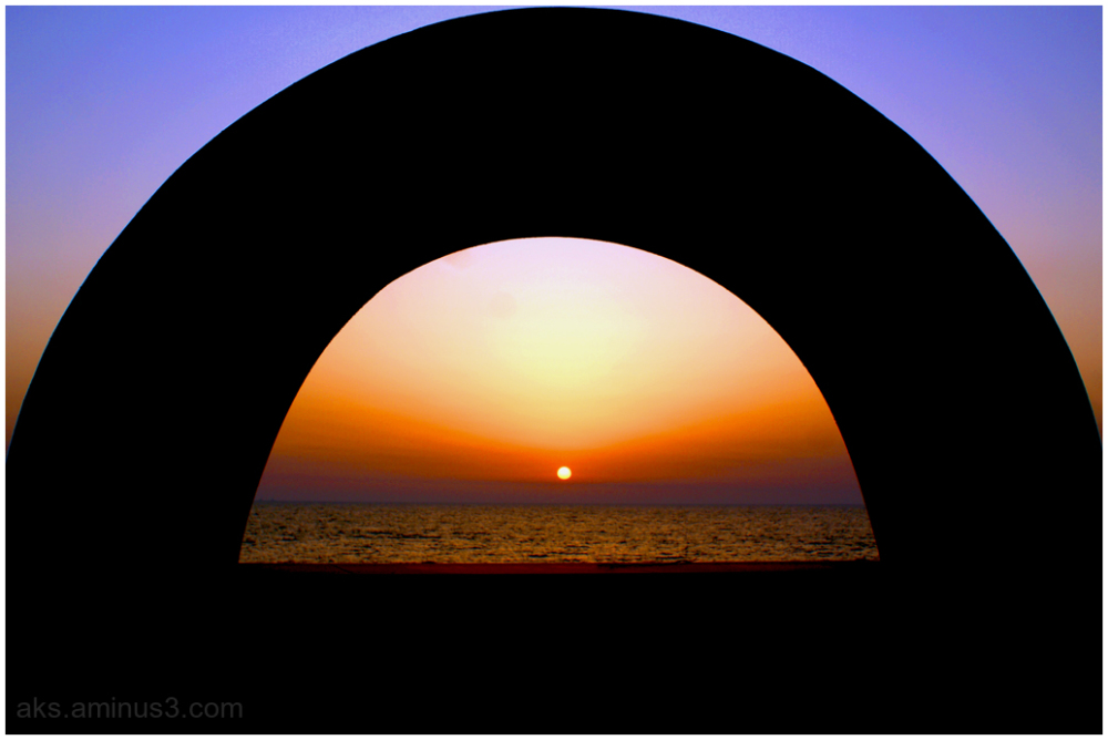 Sunset in the frame